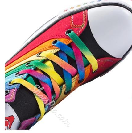Beautiful Rainbow Canvas Shoes