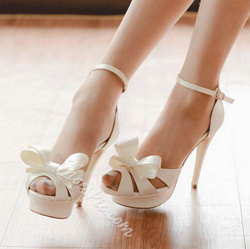 Elegant Bowknot Ankle Strap Dress Sandals