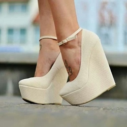 Fashionable Solid Color Wedge Heels