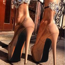 Brilliant Solid Color Platform Heels