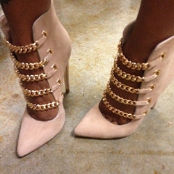 Sexy Chain Decoration Stiletto Heels