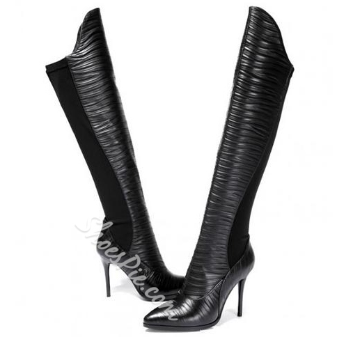 Popular Genuine Leather Knee High Boots
