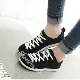 Colorful Antiskid Solid Color Lace-up Flats