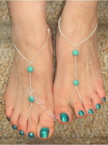 Concise Tophus Beading Beach Anklet