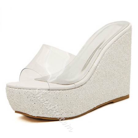 Shoespie Sexy Jelly Sequin Wedge Sandals