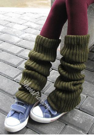Warmly Colorful Solid Color Over Knee High Socks