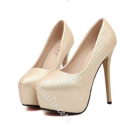 Simple Solid Color Platform Heels