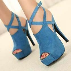 Prepossessing Cross Straps Peep-Toe Platform Sandals