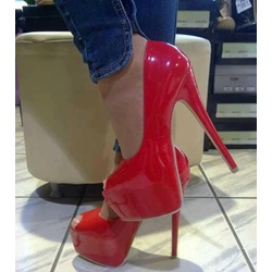 Good-Looking Red Platform Heels