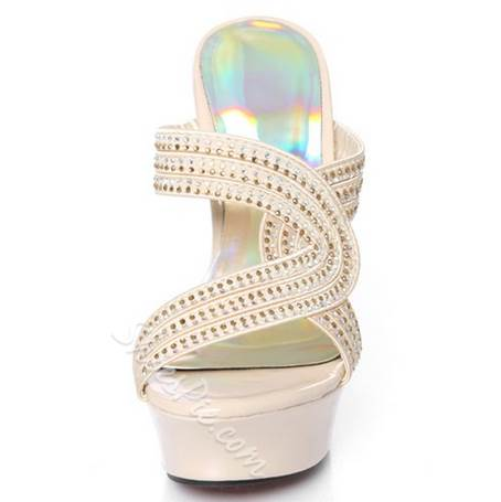 Exquisite Rhinestone Decoration Stiletto Slippers