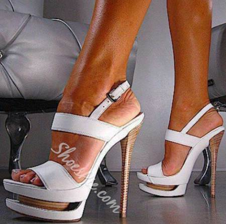 Shoespie Sexy White Sky High Platform Sandals