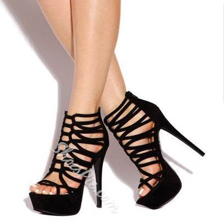 Perfect Cut-Outs Suede Dress Gladiator Sandals