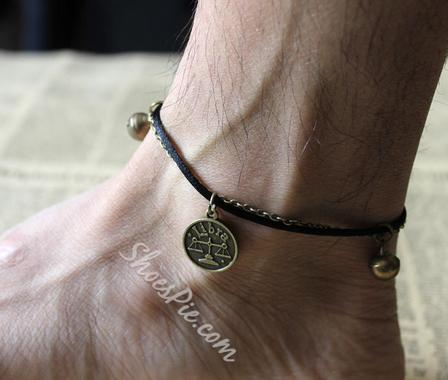 Classic Constellation Libra Bronze Color Anklet