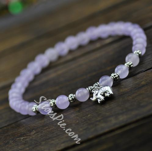 Attractive Opal Elephant Crystal Anklet