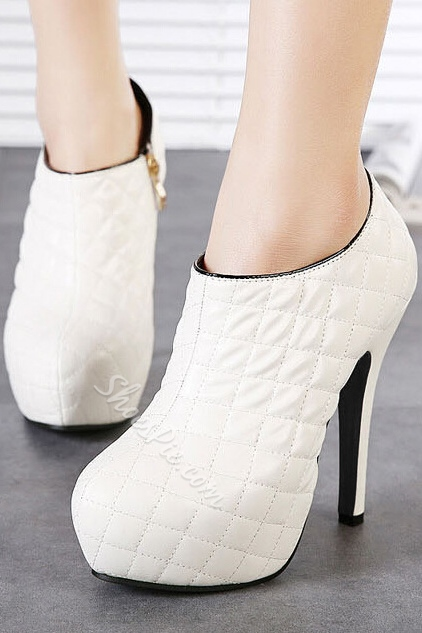 Concise Side Zipper Ankle Boots