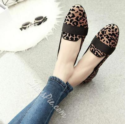 Sexy Leopard Print Point Toe Flats