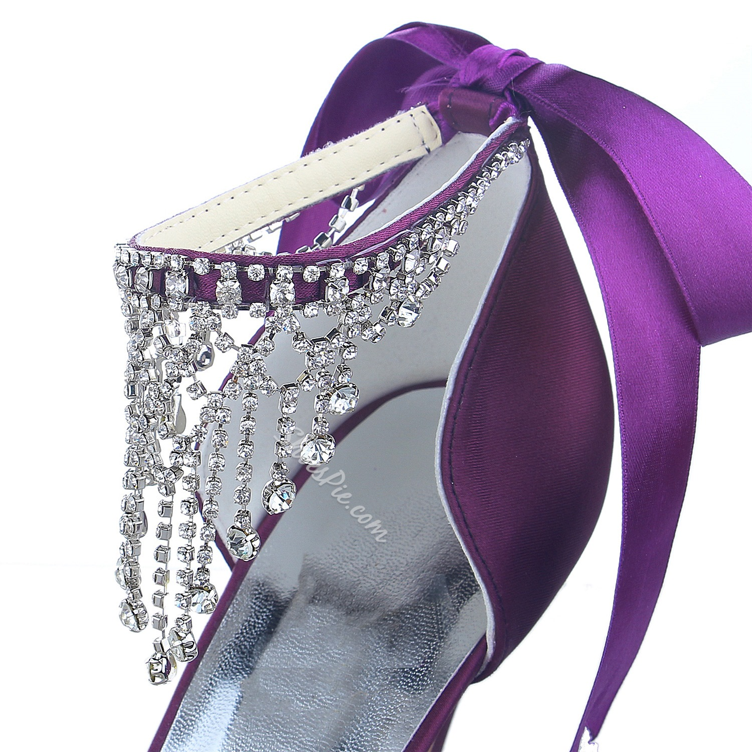 Pretty Satin Sequin Stiletto Bridal Shoes