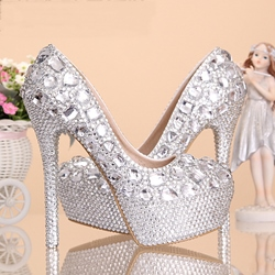 Different Rhinestone Crystal Bridal Shoes