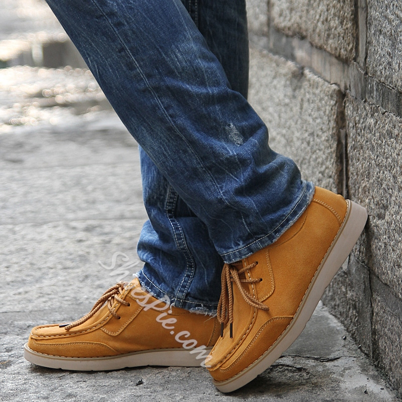 Nubuck Quilted Solid Color Oxfords