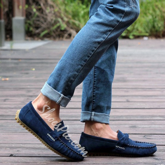 Solid Color Quilted Strappy Loafers