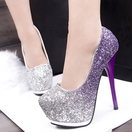 Shinning Korean Night Club Platform Heels