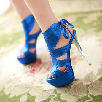 Shoespie Elegant Cut-out Bowtie OL Platform Sandals