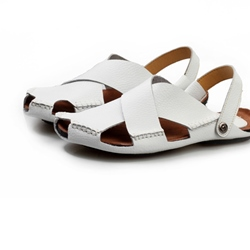 Cut Out Leather Thong Men's Sandals