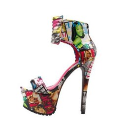 Shoespie Fabulous Genuine Leather Cowhide Platform Sandals