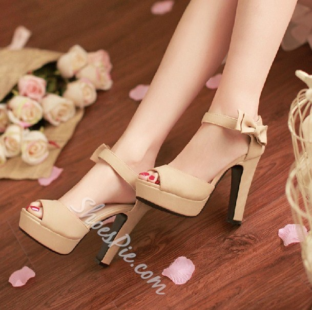 Shoespie Candy Color Platform Sandals
