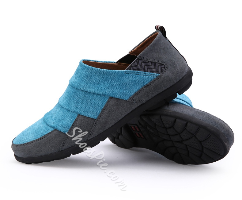 Solid Color Patchwork Lace-Up Loafers