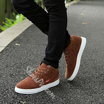 Quilted Plaid Lace-Up Sneaker