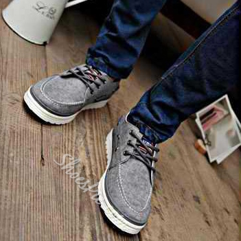 Solid Color Lace-Up Sneaker