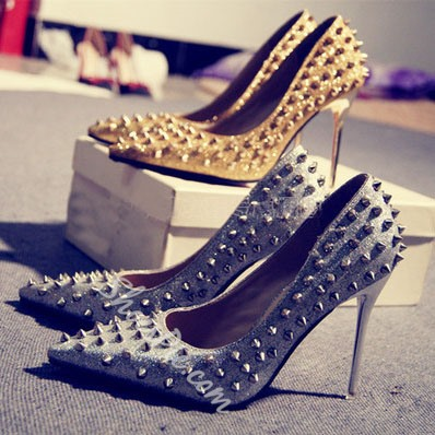 Sexy Rivets Decorated Stiletto Heels