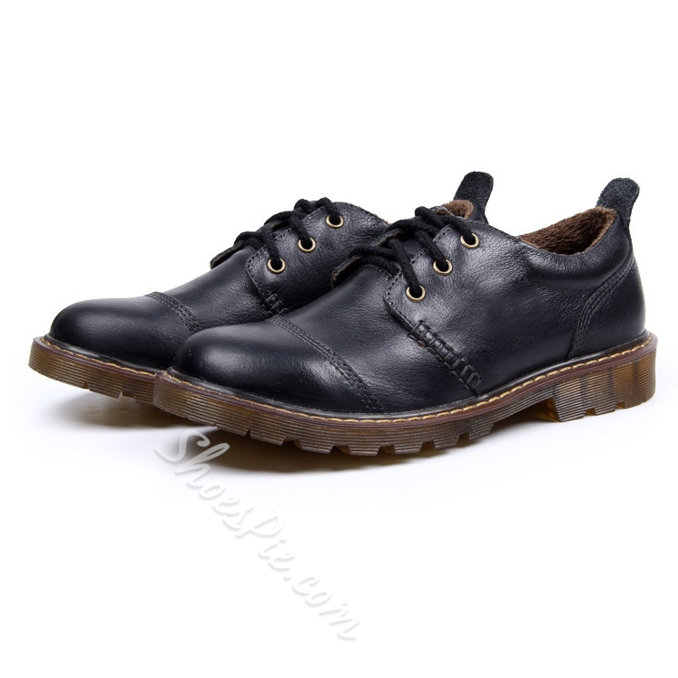 Patent Leather Brush-Off Lace-Up Oxfords