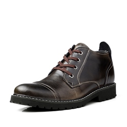 Patent Leather Brush-Off High-Cut Upper Oxfords