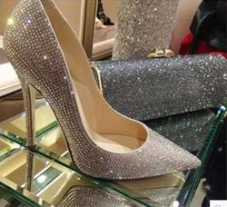 Shoespie Luxury Diamond Pointed toe Stilletto Heels
