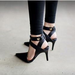 Sexy Lace Up Stilletto Pointed Toe Heels