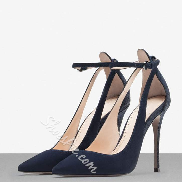 Elegant Lace Up Pointed Toe Stilletto Heels