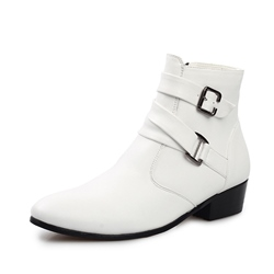 Solid Color Buckled Ankle Oxfords