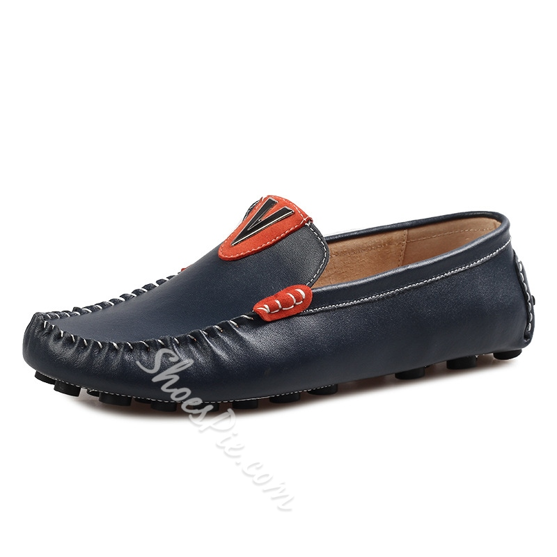 Solid Color Quilted Men's Loafers