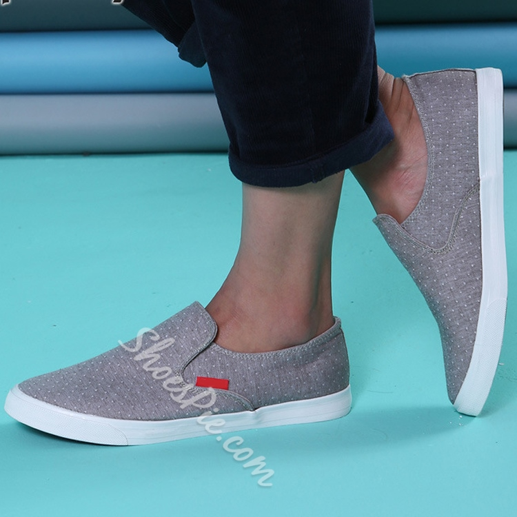 Polka Dot Elastic Canvas Shoes