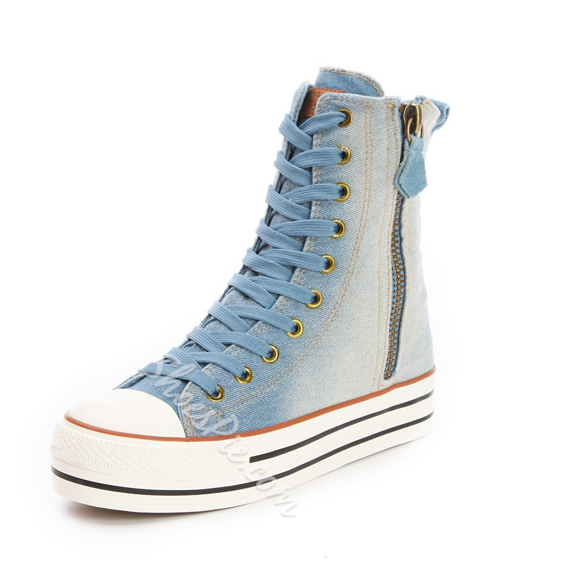 Sweet Casual Canvas with Side Zipper
