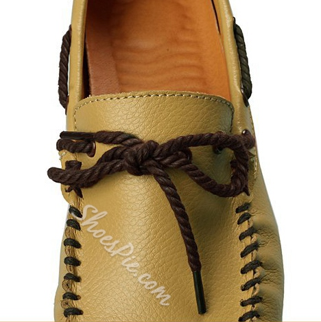 Solid Color Strappy Quilted Moccasin-Gommino Loafers