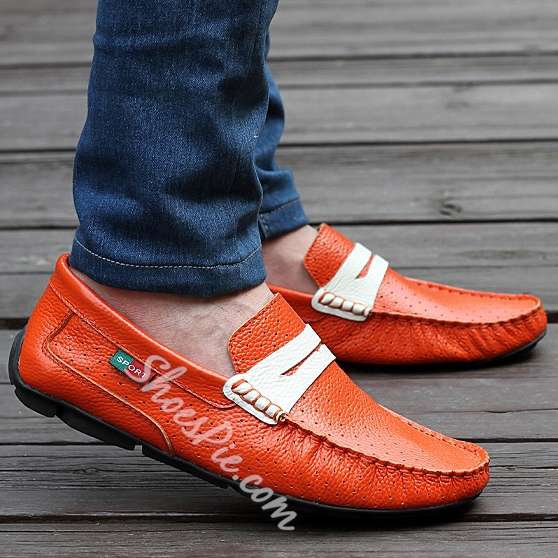 Solid Color Hollow Quilted Moccasin-Gommino Loafers