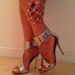 Shoespie Sexy Patent Leather Stiletto Sandals