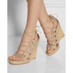 Shoespie Classic Strape Straw Braid Heel Wedge Sandals