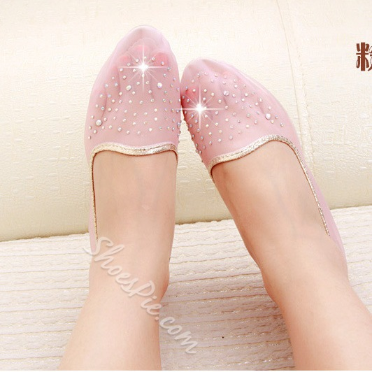 Fashion Rinestone Flat Loafers