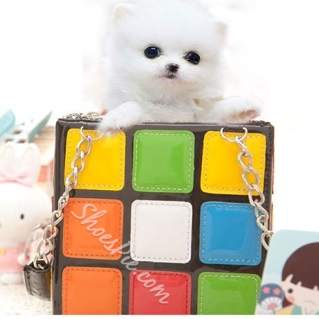 Shoespie Color Magic Cube Shaped Handbag