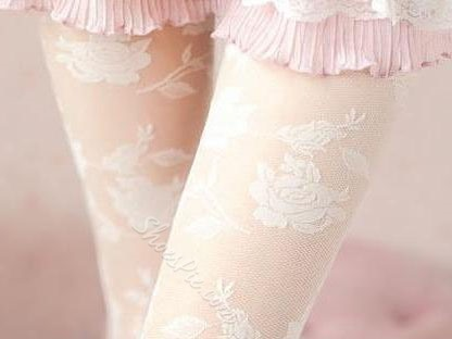 Sexy Hollow-out Rose Lace Leggings