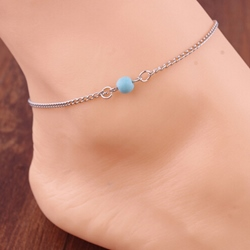 New Color Block Alloy Anklet